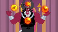 Tirek with orbs showcasing each of the pony races S4E26