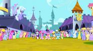 Twilight Sparkle trotting alongside her friends 2