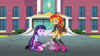 Twilight accepts Sunset's hand EG2