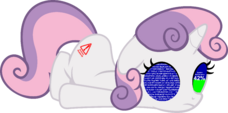 412576 safe solo vector sweetie belle robot sweetie bot artist-colon-yoshimon1 updating blue screen