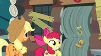 AJ and Apple Bloom see door about to burst open S7E13