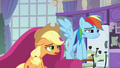 AJ and Rainbow disappointed by announcement S8E9.png