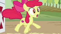 Apple Bloom jumping with shock S6E23