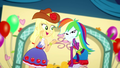 Applejack and Rainbow Dash hatching a prank SS2.png