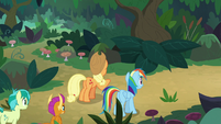 Applejack and Rainbow at a fork in the road S8E9