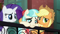 Applejack and Rarity unsure S5E16