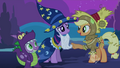 Applejack greeting Twilight and Spike S2E4.png