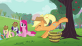 Applejack helps Pinkie Pie buck apples S03E13.png