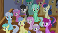 Audience of ponies in shock S6E4.png