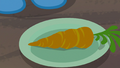 Carrot on Trixie's plate S8E19.png
