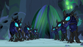 Changeling guards watch the chamber doors close S6E26.png