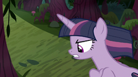 Fake Twilight looking down on the forest S8E13