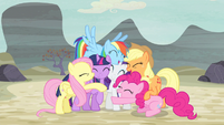 Mane Six group hug again S5E02