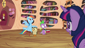 Owlowiscious and Spike notices Twilight looking at them S4E21.png