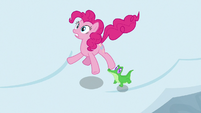 Pinkie Pie and Gummy feel the earth shake S7E11