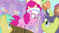 "Pinkie Pie urging the audience ""go on"" MLPS5"