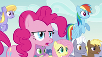 Pinkie asks Applejack if she knows Coloratura's cutie mark S5E24