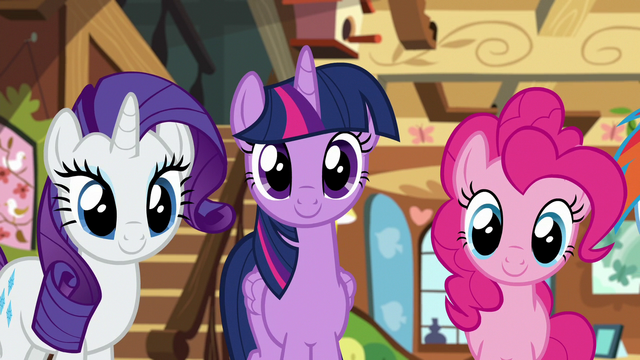 File:Rarity, Twilight, and Pinkie listen to Fluttershy S7E5.png