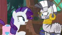 Rarity asks Zecora for blemish cream S8E11