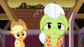Applejack and Granny Smith hearing Apple Bloom S3E08.png