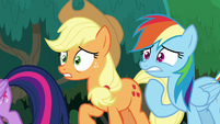 Applejack and Rainbow Dash horrified S8E9