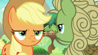 Applejack annoyed by green Kirin's silence S8E23