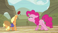 Applejack bucking the ball with one hoof S6E18.png