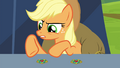 Applejack claiming the brooches are the same S4E22.png