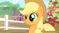 Applejack listens to Pinkie's second invitation to Gummy's afterbirthday party S1E25.png