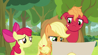 Applejack looking at the schedule again S9E10