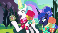 Celestia presents sun-and-moon amulet S9E13