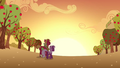 Cheerilee and Big Mac watching sunset S02E17.png