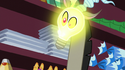 Discord's head turns into a light bulb S7E12