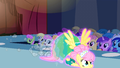 Fluttershy flying down the runway S1E20.png