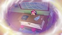 Gloriosa Daisy crying at her office desk EG4