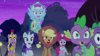 Main cast laughing at Granny Smith S5E21