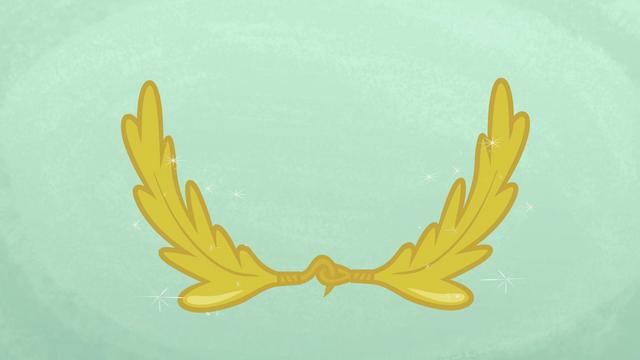 File:Rainbow Dash's wreath S1E14.png