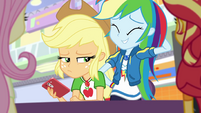 Rainbow Dash looking embarrassed EGROF