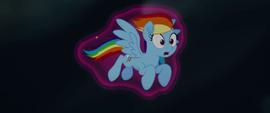 Rainbow Dash wrapped in Twilight's aura MLPTM