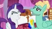 Rarity deeply upset with Zephyr Breeze S6E11