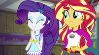 Rarity excitedly clapping her hands EG4
