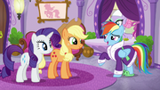 Rarity y Applejack y Rainbow en el spa T6E10