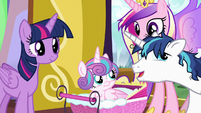 Shining Armor talking like a baby S7E3