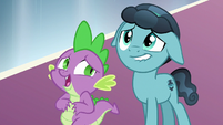 Spike and Crystal Hoof keeping up the act S6E16