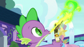 Spike sends a letter to Celestia S8 opening.png