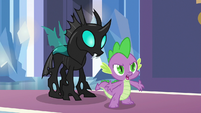 Spike standing up for Thorax S6E16