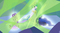 Starlight, Celestia, and Luna glow and vanish S9E25