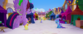 Twilight and Spike fly across the festival grounds MLPTM.png