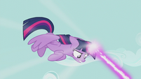 Twilight attacking with magic S5E9