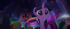Twilight looks toward the back of the audience MLPTM